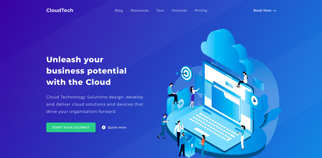 tech website design inspiration