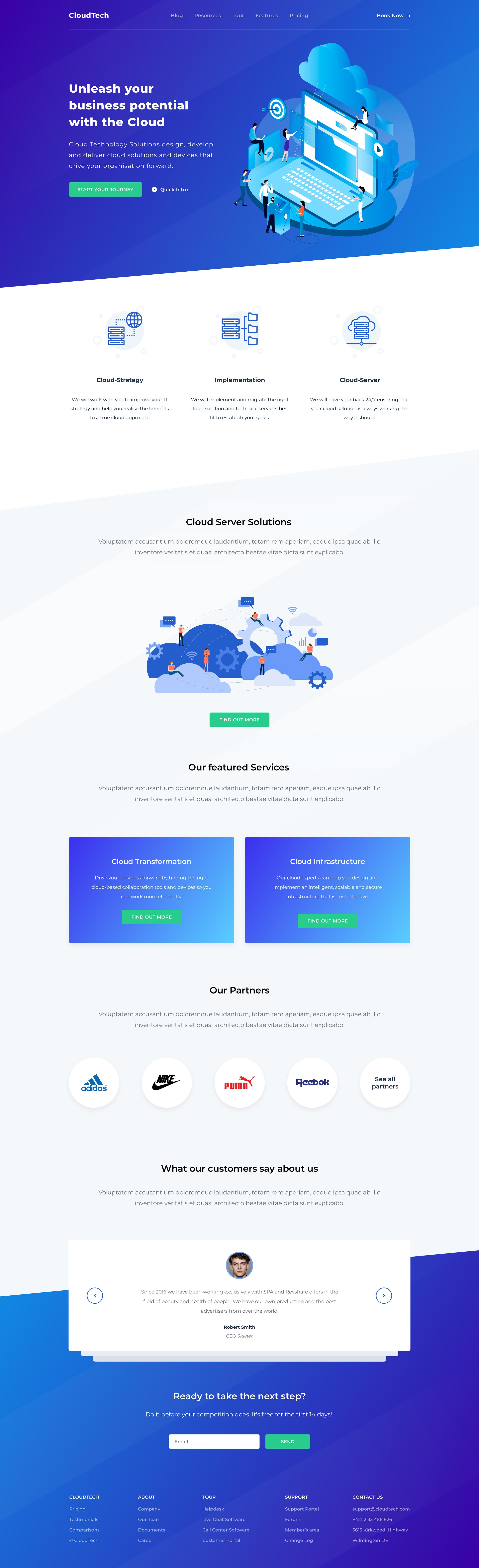 tech website design inspiration