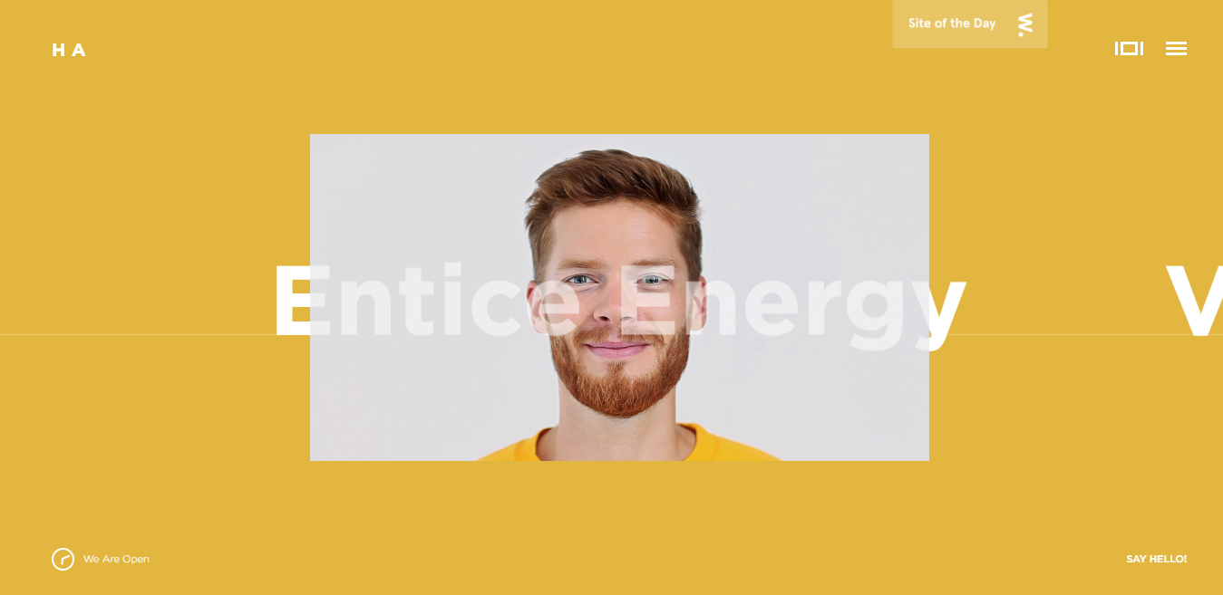 Flat website design inspiration