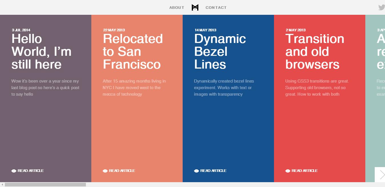 best flat design websites