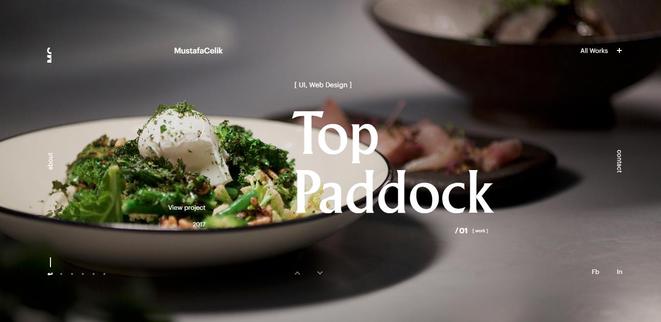 flat food website design