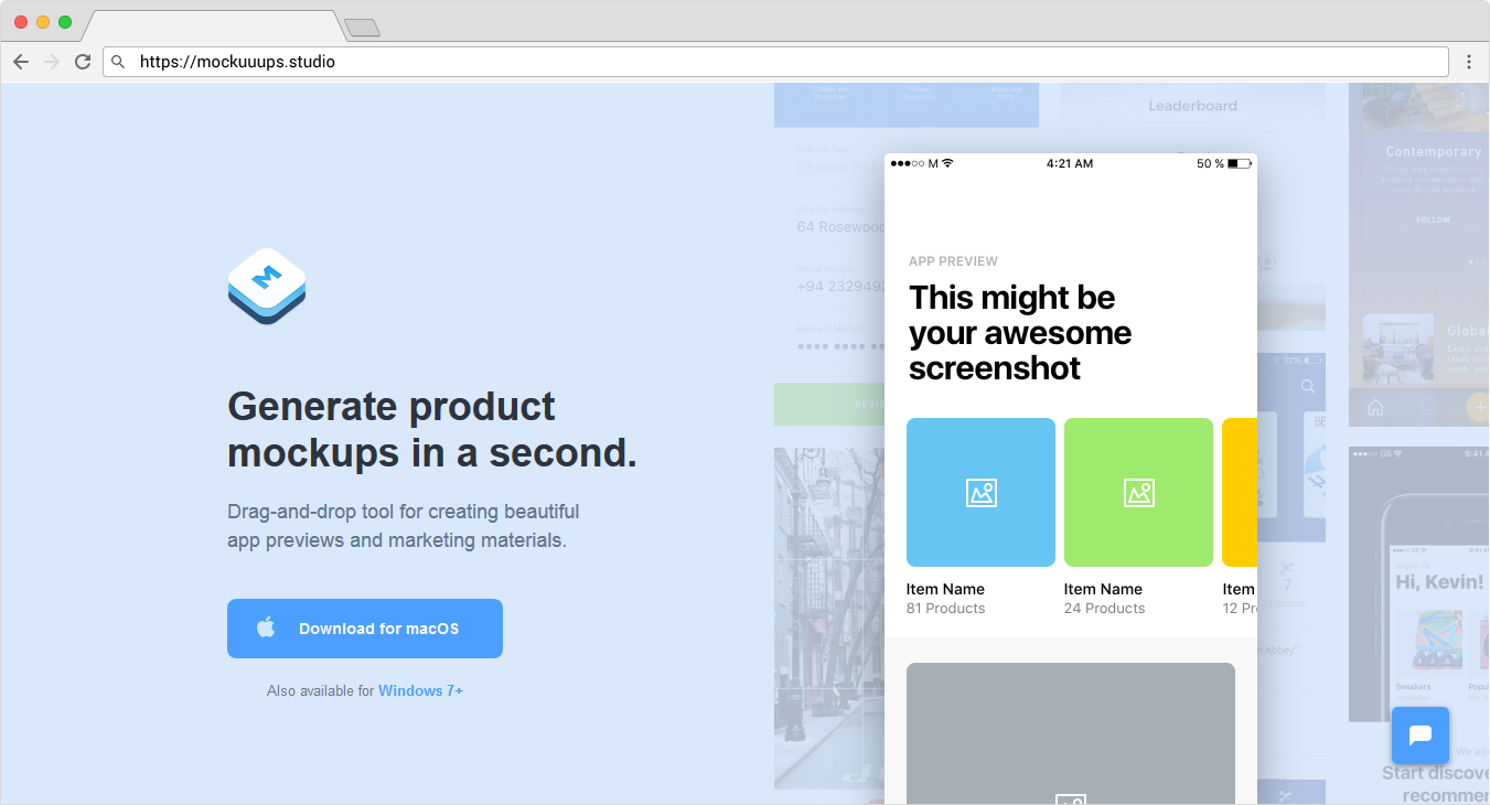 Generate Mockups in a Second