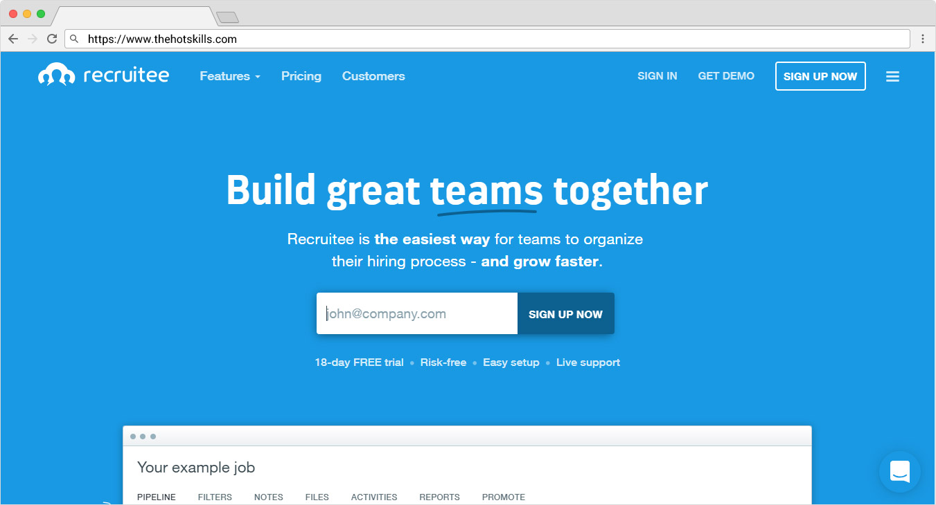 Recruitment Software - Applicant Tracking System | Recruitee