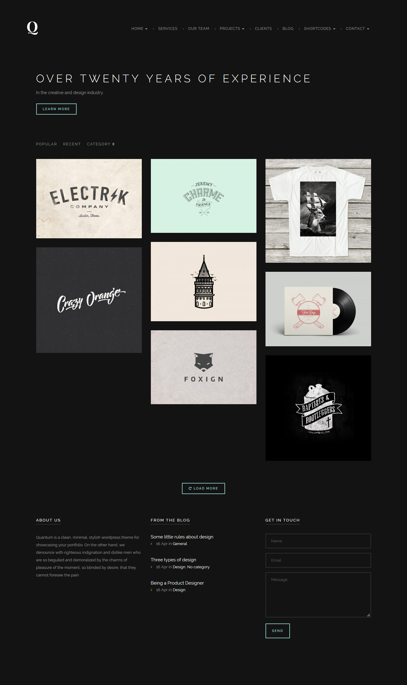 personal portfolio wordpress themes