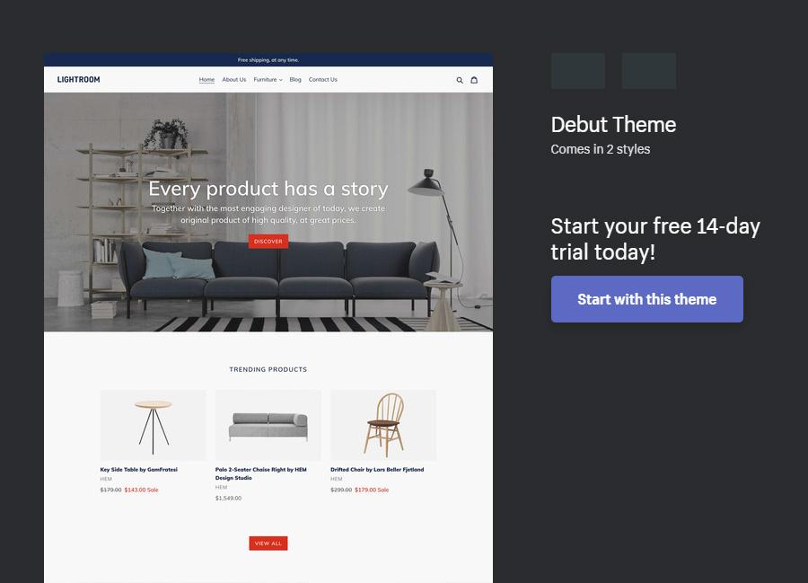 shopify themes free