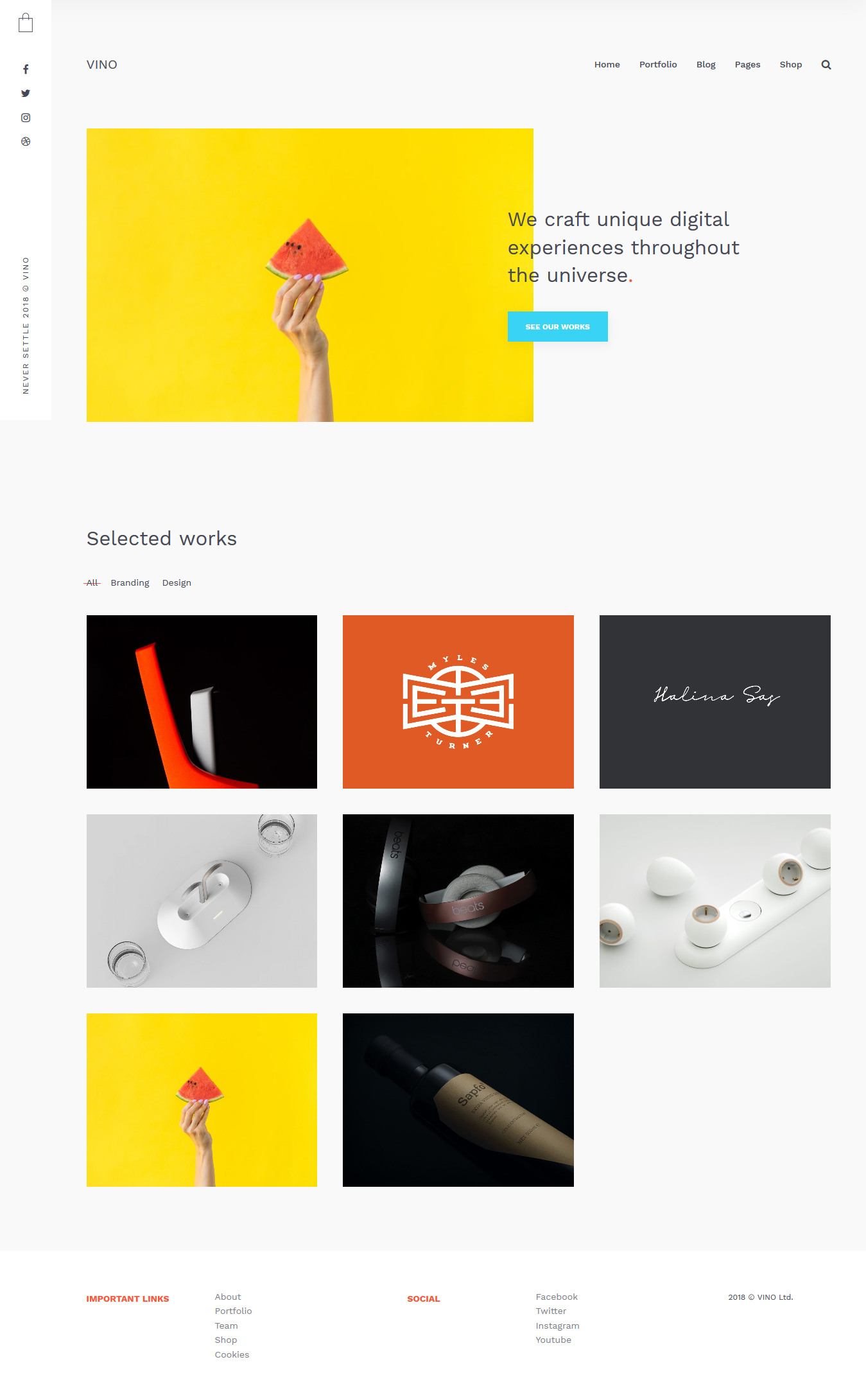 minimal portfolio wordpress themes for designers