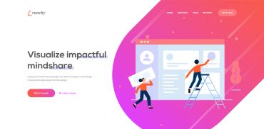 web agency landing page design