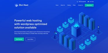 web hosting website homepage design