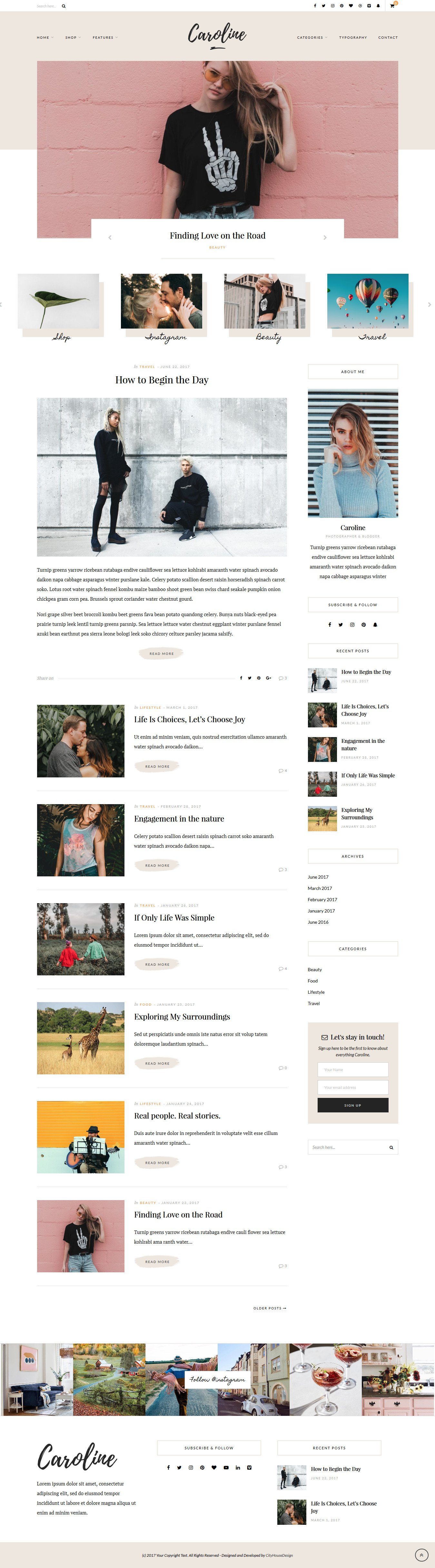 Caroline A WordPress Blog Theme