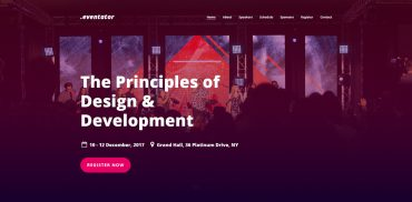Event Landing Page Design inspiration