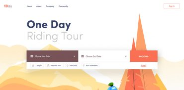 Tour Website Design Inspiration