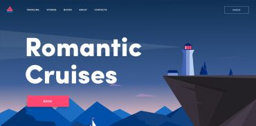 Romantic Cruises Landing Design