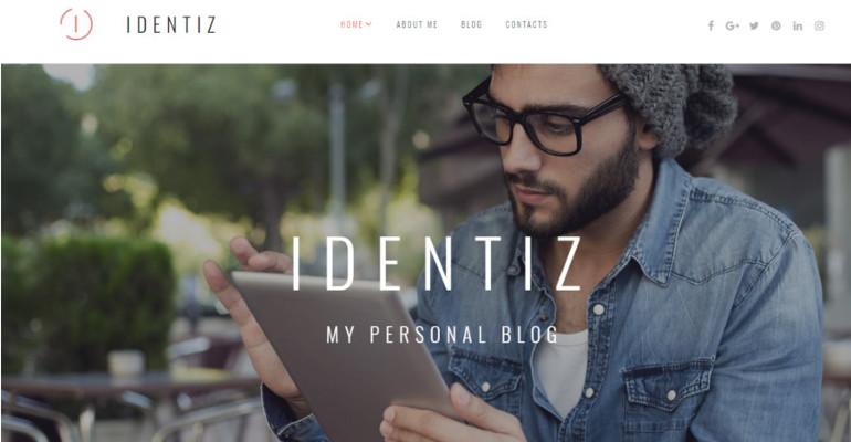 Identiz Personal Portfolio Website Template