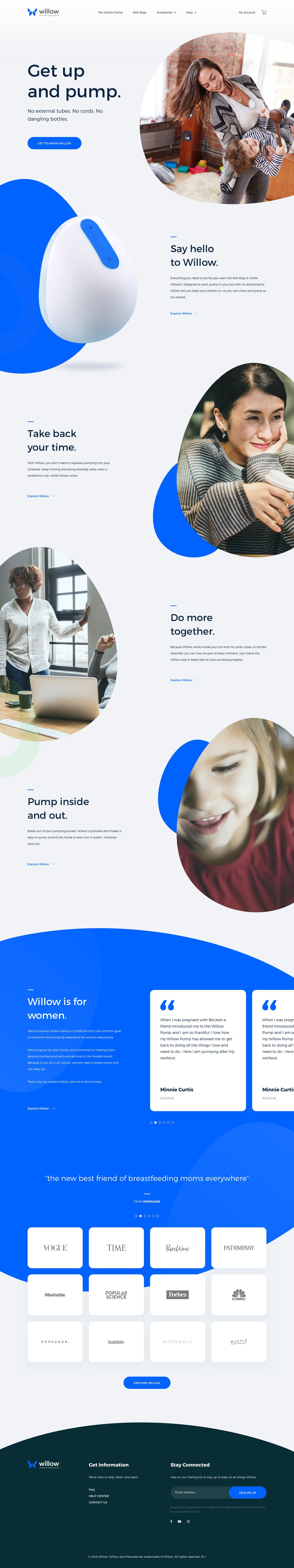 Breast Landing Page Design