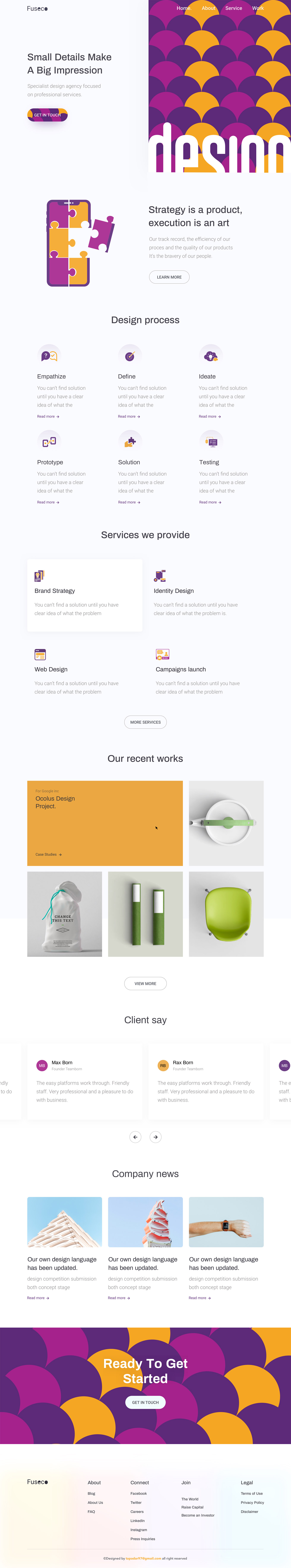 Design Agency Homepage
