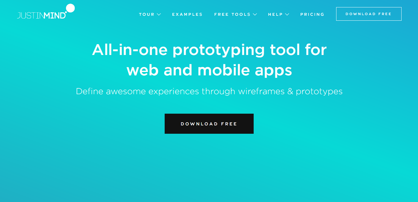 Free prototyping tool to design web mobile apps