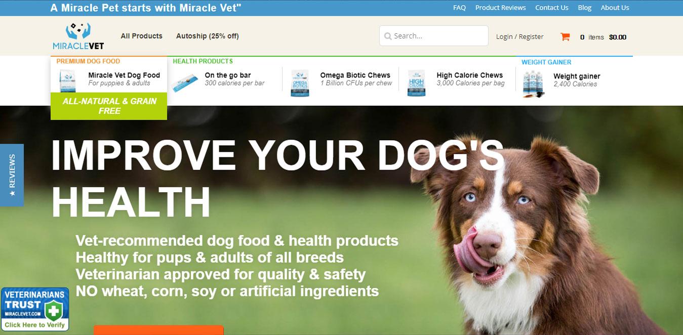 Miracle Vet Pet Supplements