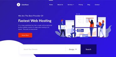 Web Hosting Company Design
