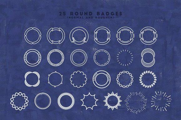 circle monogram badges
