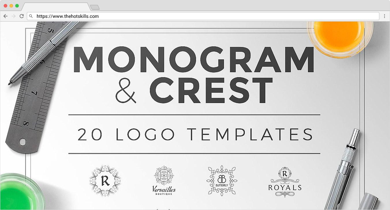 monogram design templates