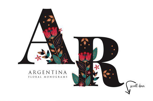 floral monogram design