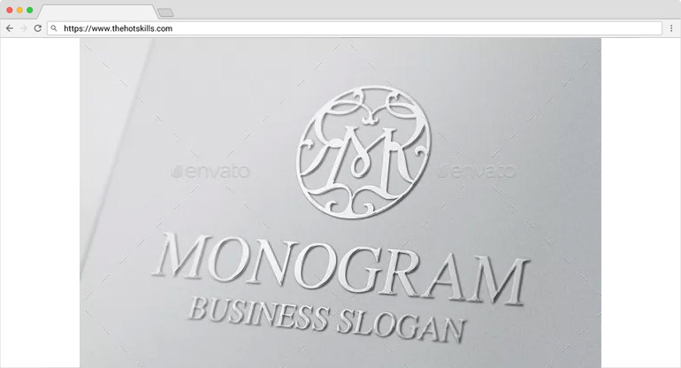 monogram design templates