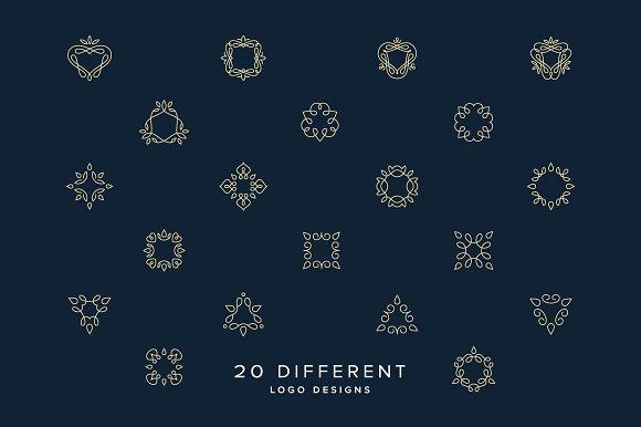 minimal monogram graphics