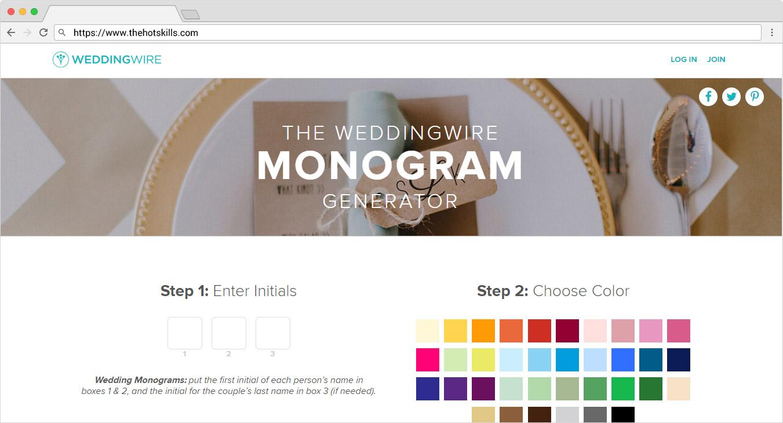 monogram generator