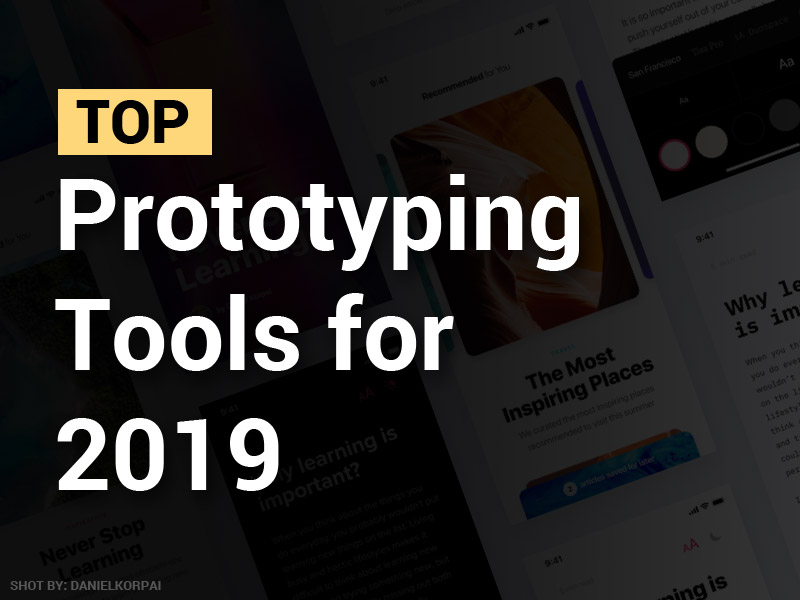 top prototyping tools 2019