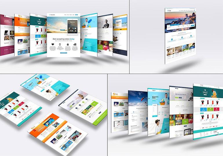 3D Website Mock-Up
