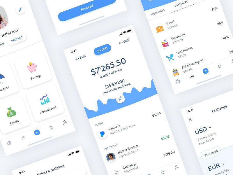 Banking app freebie