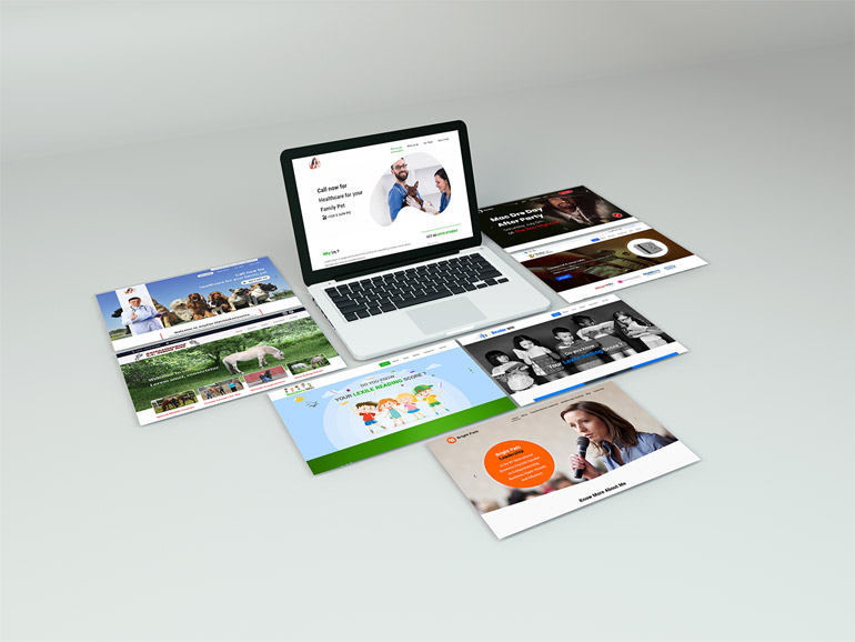Beautiful Perspective Website Mock up - free download