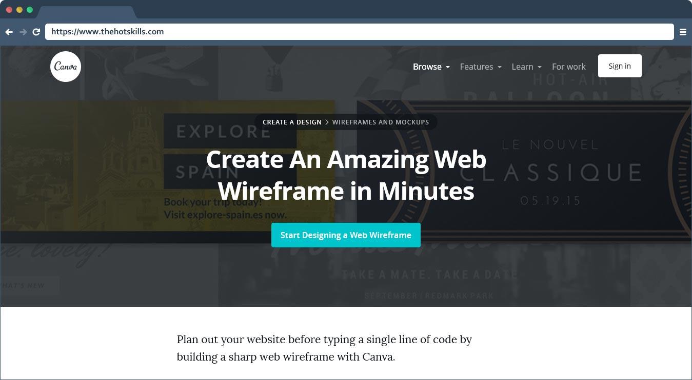 Free Online Website Wireframe Tool