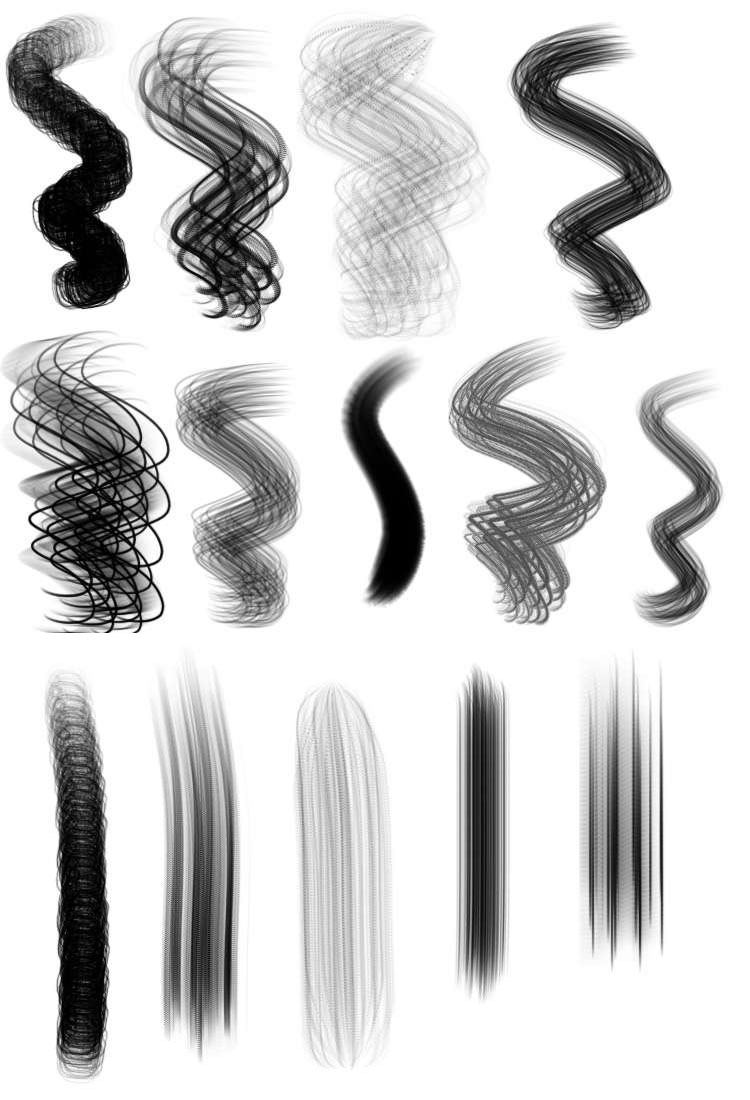 procreate hair brushes free