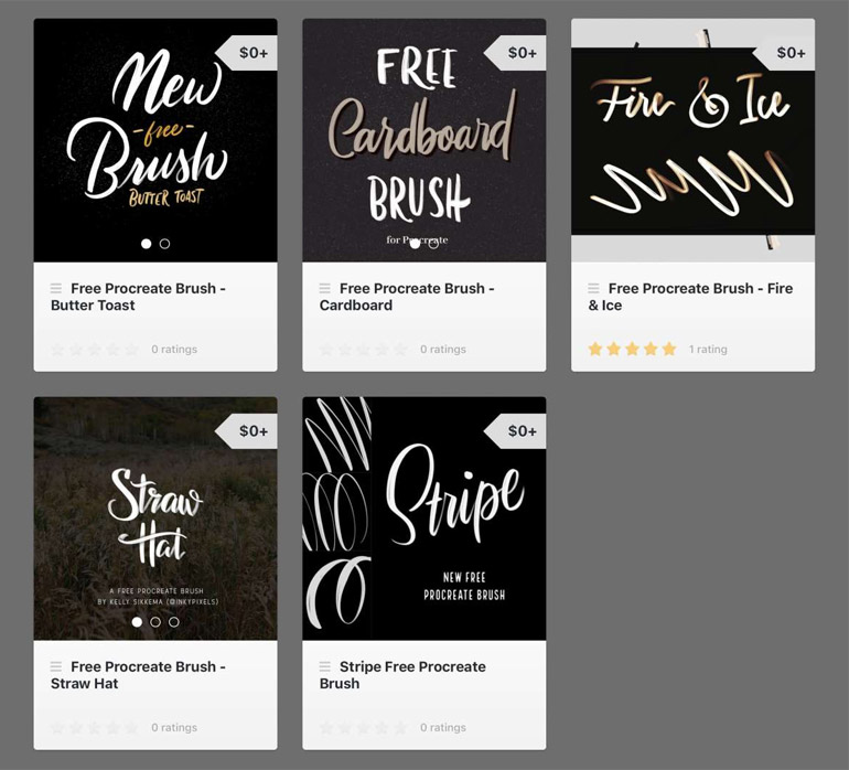Free Procreate Calligraphy and Lettering Brushes