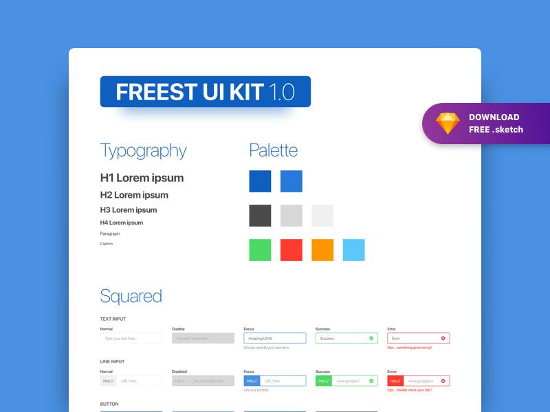 Sketch UI Kit Free