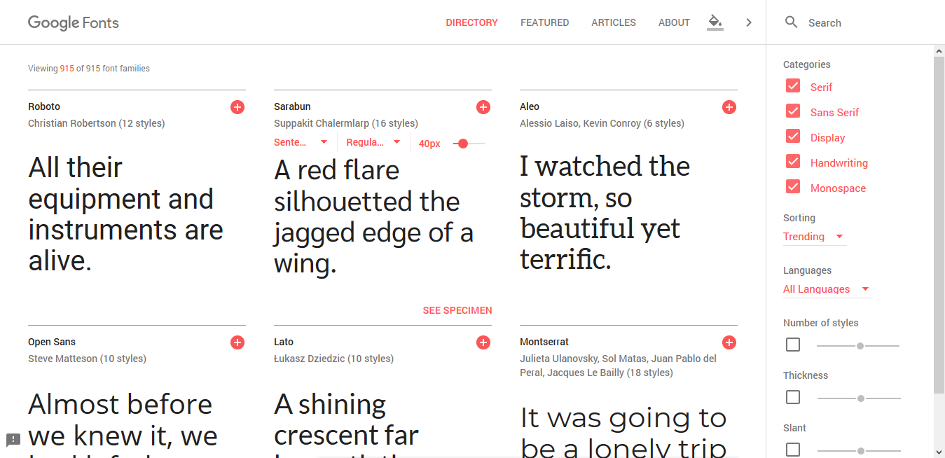 Google Fonts Combination