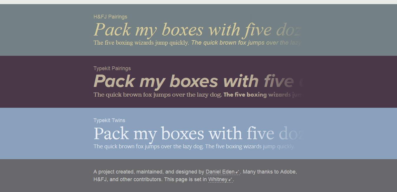 Font pairing tools