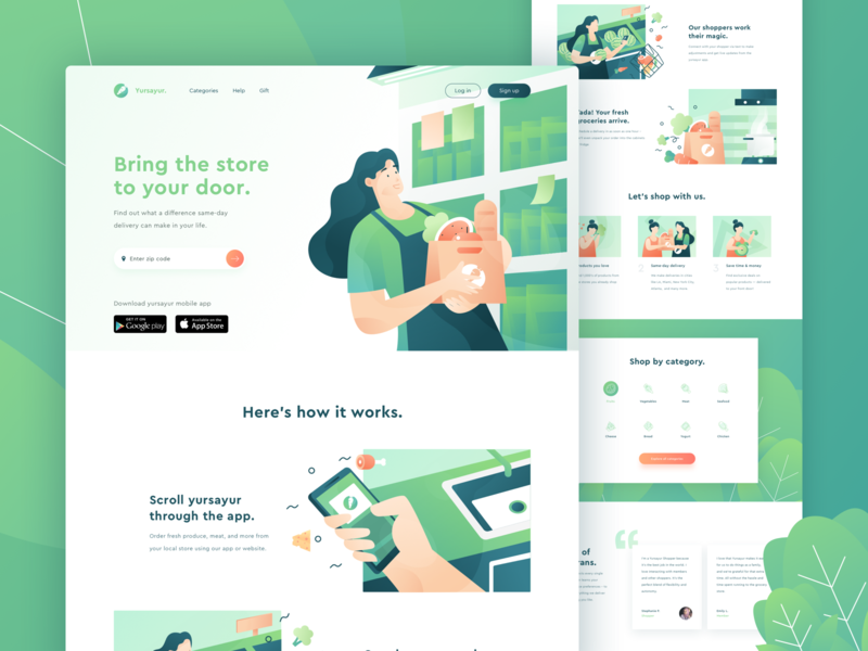 Landing Page web design trends 2019