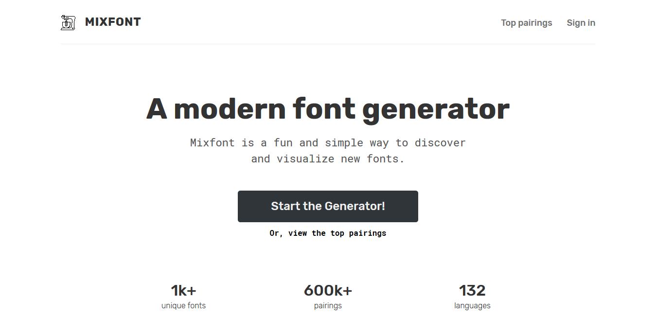 A modern font pairing tool