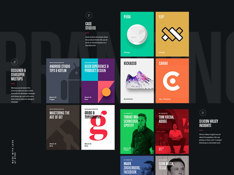 grid ux web designs