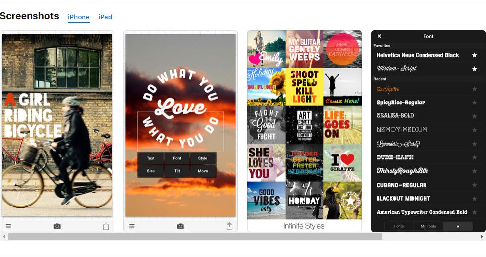 Photo & Typography App