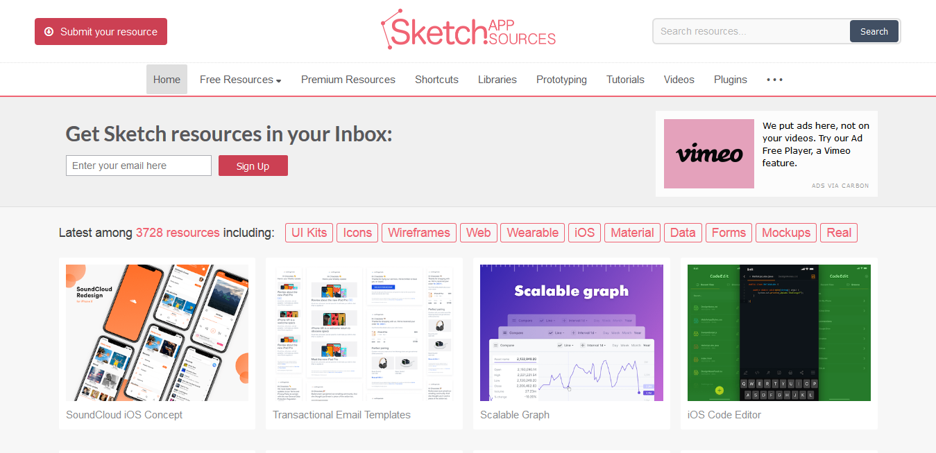 Sketch App Sources - Free design resources and plugins - Icons, UI Kits, Wireframes, iOS, Android Templates