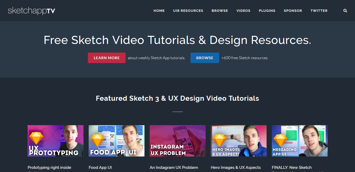 Sketchapp TV Free Sketch Video Tutorials Design Resources Sketchapp Freebies