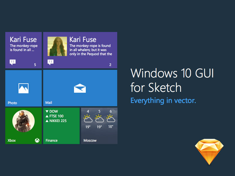 Windows 10 UI Kit for Sketch