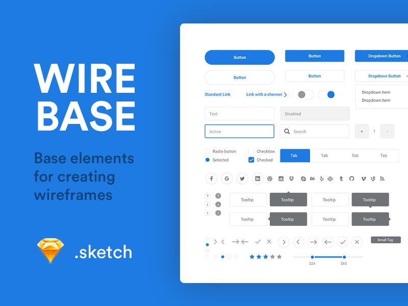 Wirebase sketch ui kit