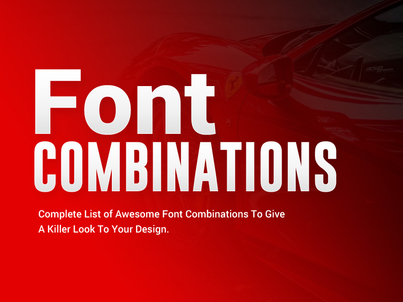 font combinations 2018 - 2019