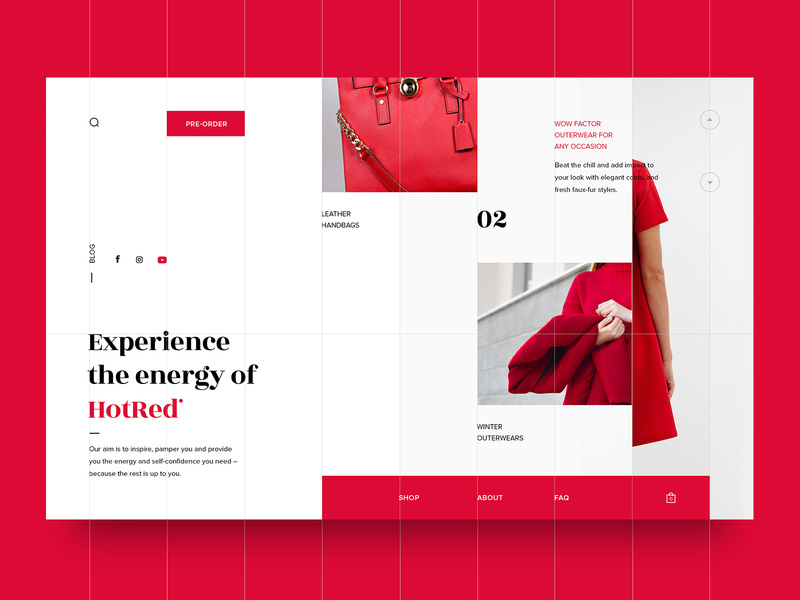 grid web ui design inspiration