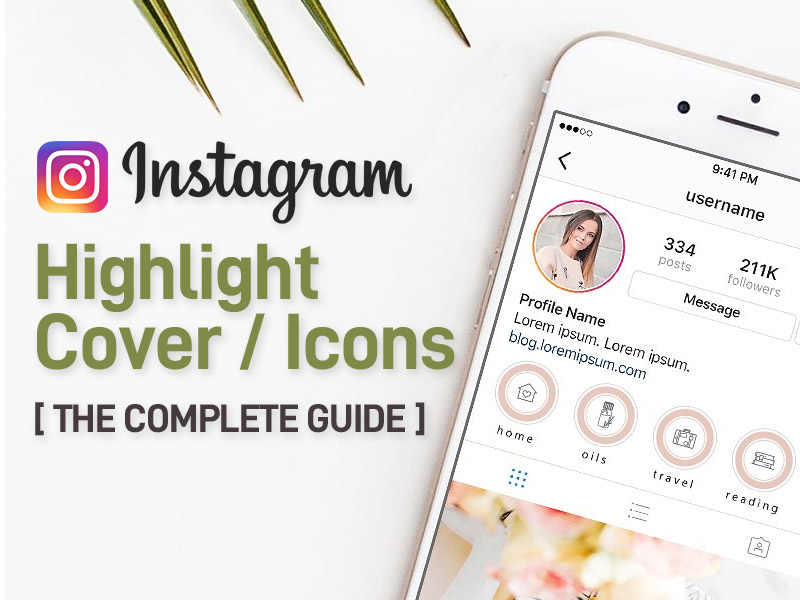 instagram highlights cover and icons
