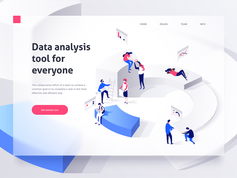 isometric web design trends
